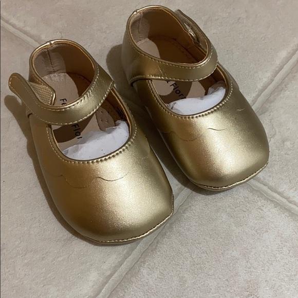 Felix & Flora Toddler Gold Shoes